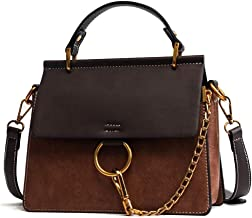 Yoome Women's Vintage Shoulder Bags Top Handle Handbags Crossbody Ring Bag Designer Purse