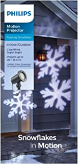LED Rotating White Snowflakes Indoor/Outdoor Christmas Holiday Light Projector