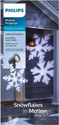 LED 旋转白色雪花室内/室外圣诞节假日灯投影机