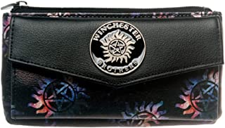 Supernatural Winchester Bros Top Zip Juniors Womens Hand Purse Clutch Wallet
