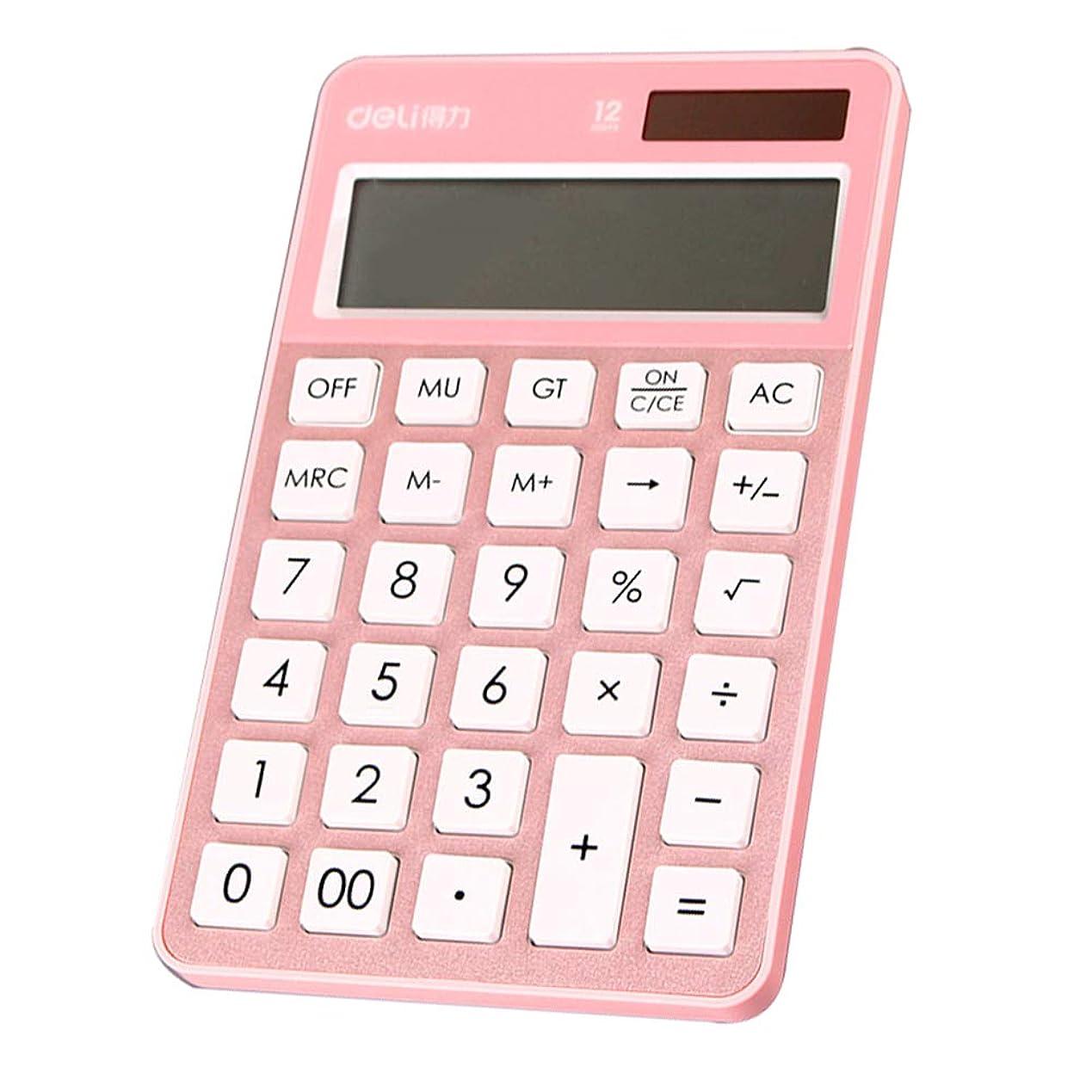 静める食物歴史オフィスの電卓、マルチカラーミニかわいい学生電卓、ソーラー財務会計計算機ZDDAB
