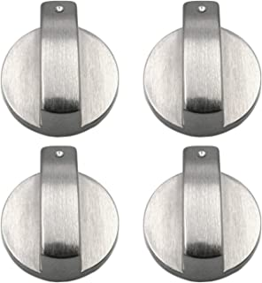 Metal 6mm Universal Silver Gas Adaptadores de Perillas de Control de la Estufa Interruptor de Horno, Cocina, Cerraduras de...