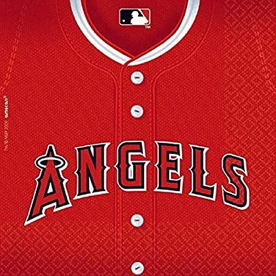 Licensed MLB Los Angeles Angels Luncheon Party Napkins Tableware