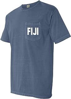 Phi Gamma Delta Fiji Fraternity Comfort Colors Pocket T-Shirt
