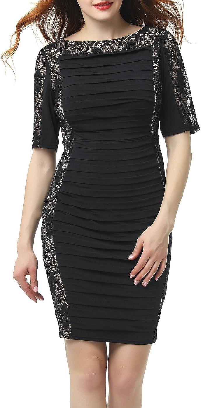 phistic Women's Lace Sheath Dress
