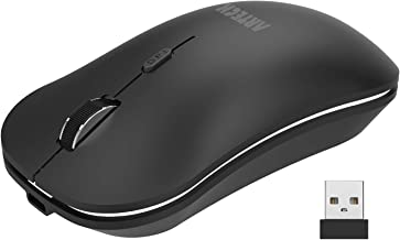 Arteck 2.4G Wireless Mouse with Nano USB Receiver Ergonomic Design Silent Clicking for Computer / Desktop / PC / Laptop an...