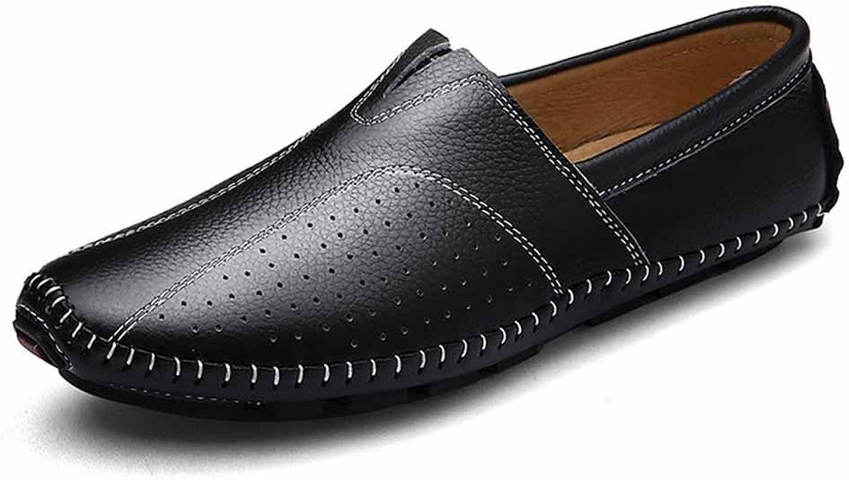Mans läder Hollow Loafer skor 2018 sommar Andable Drive Drive Drive läder Sandals  officiell kvalitet