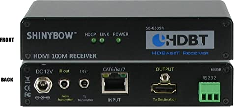 Shinybow HDMI Extender with RS232 & Infrared over Cat5/6/7, Receiver | SB-6335R by ShinybowUSA