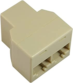 Insten RJ45 CAT 5 6 LAN Ethernet Splitter Connector Adapter PC