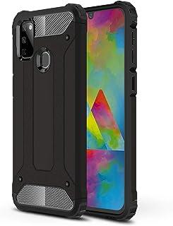 FanTings Funda para Samsung Galaxy M21, PC con TPU Funda Interna Suave, 2in1 Armadura Combinación A Prueba de Choques Heav...
