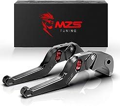 MZS Black Short Levers Wheel Roller Brake Clutch Adjustment Compatible with YZF R1 R6 R6S RN09 RJ03 RJ05 FZ1 Fazer YZF600R...