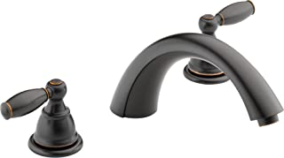 soaking tub with deck mount faucet