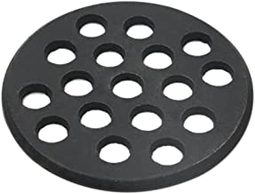 Round cast Iron Grate,Dracarys BBQ high Heat Charcoal Plate fit for Small and Mini Big Green Egg Charcoal Replacement Parts fire Cooking Grate Green Egg Accessories-5.5inch SFGC