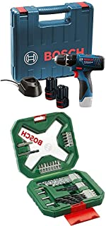 Bosch Professional GSB 120 - LI Professional 12 V with 2 x 1.5 Ah Batteries with Charger, Carry Case and Bosch Classic Xli...