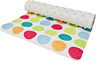 Contact Heavy Duty Colorful Polka Dots Shower Mat, Tub Mat With No-Slip Suction Cups, Mildew Resistant Shower Mat, Machine Washable Shower Mat 27 in x 15 in
