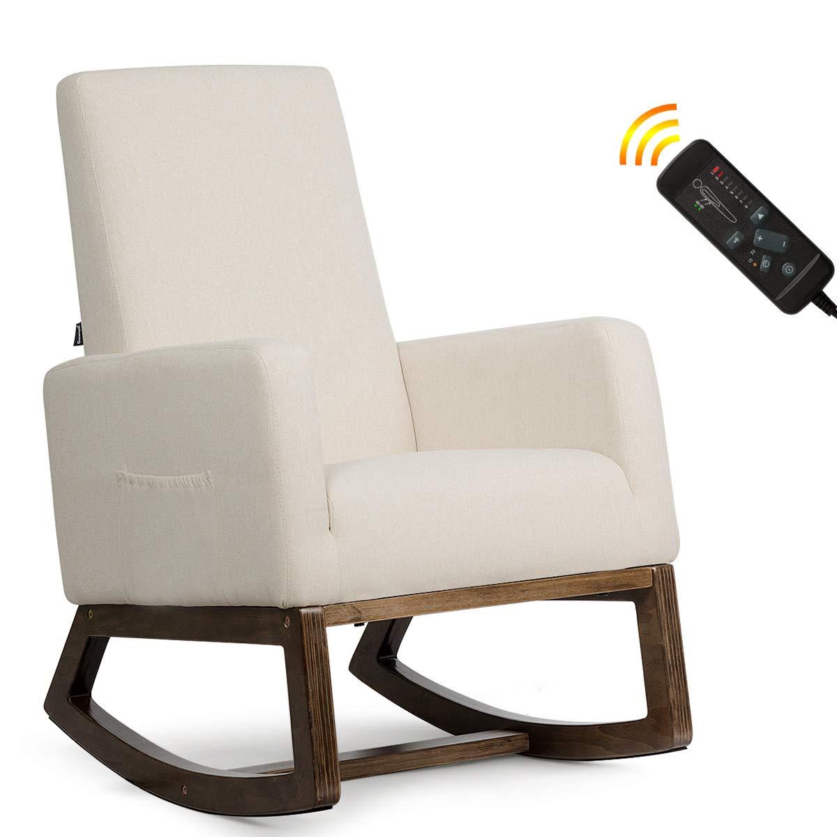 Giantex Rocking Upholstered Massage Function