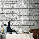 Spécial /Simple Rétro 3d stéréo stéréo ciment gris antique brique brique motif fond d'écran salle de salle à manger salon canapé papier peint couleur couleur ( Color : Light Grey , Size : 0.53*10m )