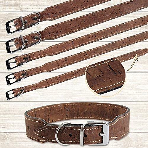 Kork-Hundehalsband Farbe Kastanie Eine exklusive Serie in bester Qualität zu Top-Preisen In Deutschland gefertigt