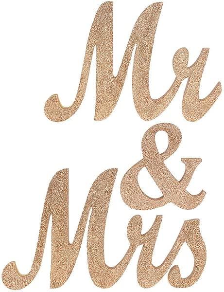 Ocamo Letter Sign Mr Mrs Wooden Decoration Props For Wedding