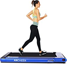 ANCHEER 2 in 1 Folding Treadmill, 2.25HP Electric Treadmill, Under Desk Portable Treadmill Walking Running Machine with Bluetooth Audio Speakers for Home Gym Cardio Exercise