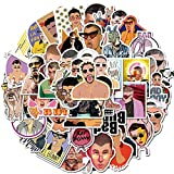 ZZHH Hot Puerto Rican Singer Bad Bunny Stickers PVC for Stationery Decal Motorcycle Skateboard Laptop Guitar Bike Cool Sticker 50Pcs