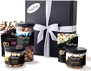 Funky Chunky Gourmet Popcorn Supreme Snack Care Package Five Flavor Variety Pack: Sea Salt Caramel, Peanut Butter Cup, Chi...