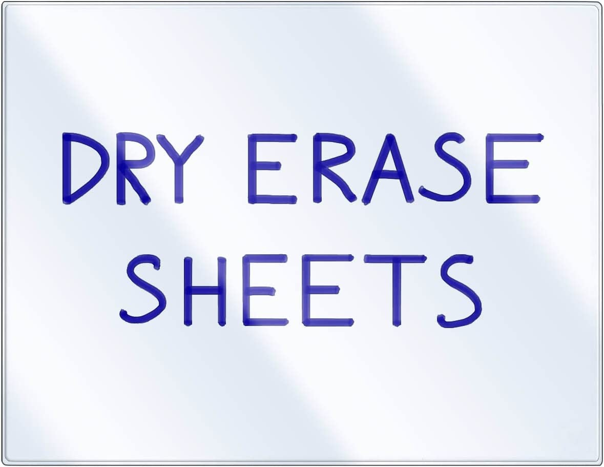 StoreSMART - Dry Erase Clear Sheets Minneapolis 5% OFF Mall Adhesive 10-Pack DE1175-