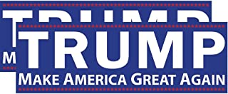 Trump Make America Great Again Bumper Sticker 2 Pack. This Republican Candidate Stands Against Political Correctness & For Conservative Values, the Constitution, & Defeating Crooked Hillary Clinton.