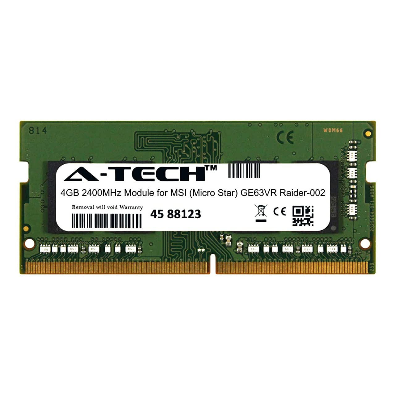 A-Tech 4GB Module for MSI (Micro Star) GE63VR Raider-002 Laptop & Notebook Compatible DDR4 2400Mhz Memory Ram (ATMS368250A25824X1)
