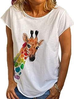 ZOOMY 3 Paia Calzini da Barca in Cotone a Taglio Basso da Donna Cartoon Deer Giraffe Animal Short Hosiery B #