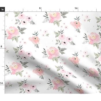 Shabby Tissu 115 cm au metre floral 100/% coton