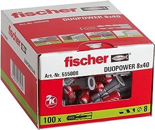 fischer DUOPOWER 8 x 40, universele pluggen, krachtige 2-componenten pluggen, kunststof pluggen voor bevestiging in beton,...