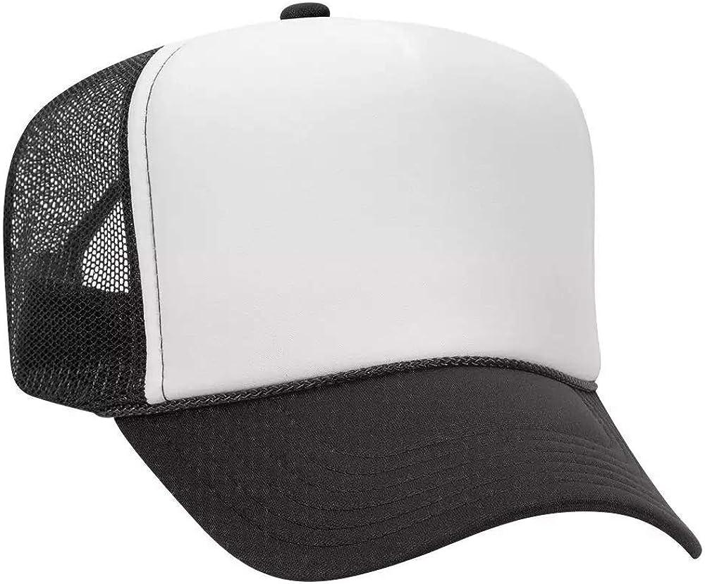 Ashen Fane Polyester Foam Front 5 Panel High Crown Mesh Back Trucker Hat