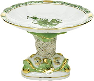 Herend Porcelain China Shell with Dolphin Stand Chinese Bouquet Green