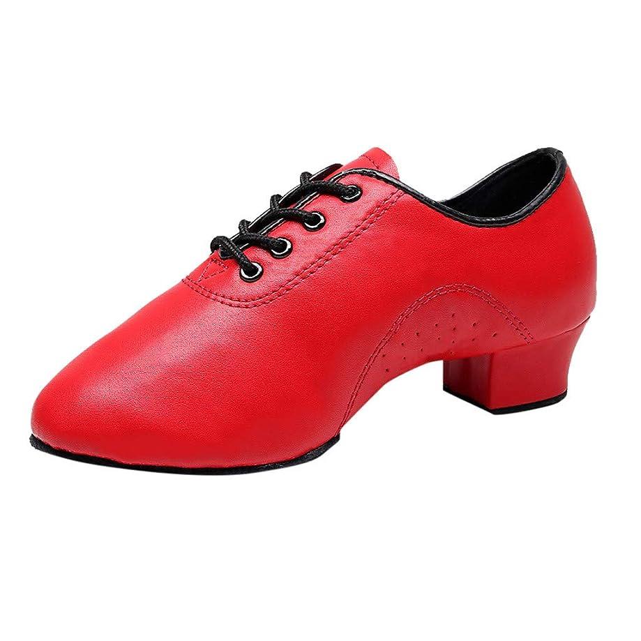 ★QueenBB★ Women Girls Professional Lace-Up Black Leather Latin Salsa Tango Ballroom Modern Dance Shoes Viennese Waltz