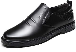 Zapatos casuales Zapatos clásicos de Oxford de los hombres, cuero cabelludo redondo, alto, doble elástico de talón casual ...