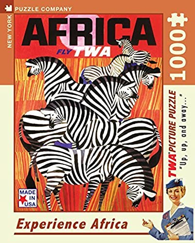New York Puzzle Company - American Airlines Africa - 1000 Piece Jigsaw Puzzle by New York Puzzle Company