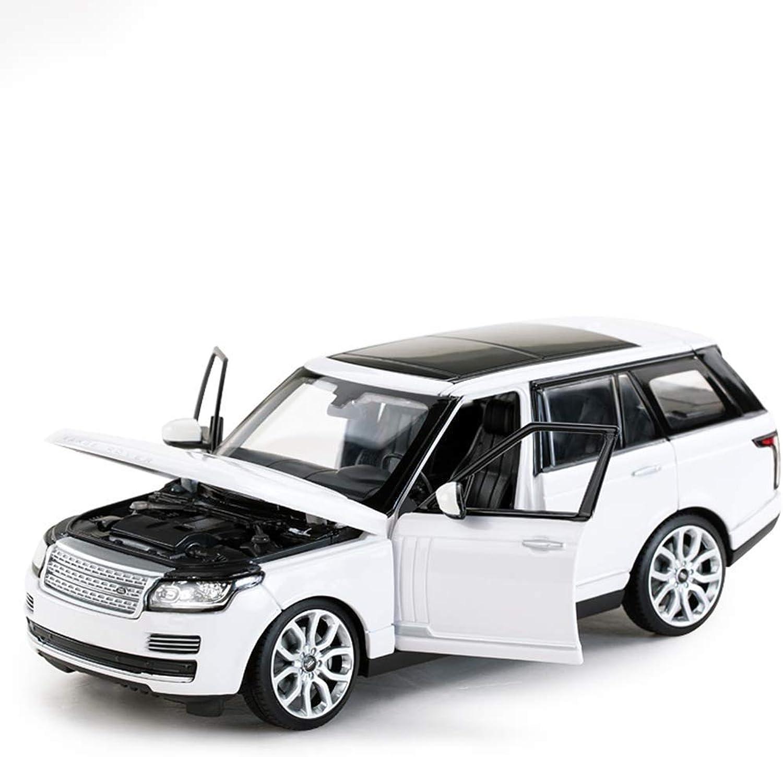 mejor servicio KaKaDz Wei Wei Wei KKD Escala Modelo Simulación Vehículo Land Rover Range Rover Modelo de Coche de aleación Modelo de Coche 24  Modelo de Coche de Juguete para Niños SUV Boy ( Color   blanco )  alta calidad