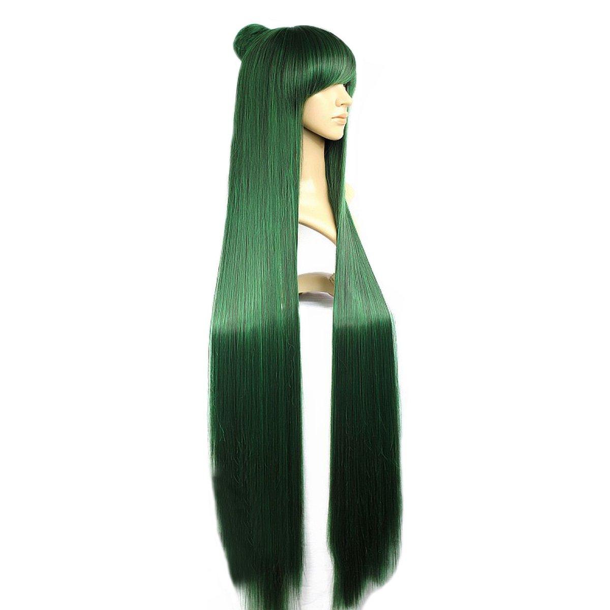 Angelaicos Women's Fiber Max 53% OFF Straight Cosplay Long Popular popular Party Wig Costume
