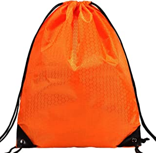 Cinch Bags Drawstring Backpack-1,4,8,10 Pack Not See-through Pull String Bag-Football Pattern¡