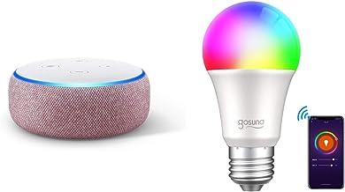 Echo Dot 第3世代 - スマートスピーカー with Alexa、プラム + Gosund Wifi スマートLED電球 調光 調色 カラー1600万色