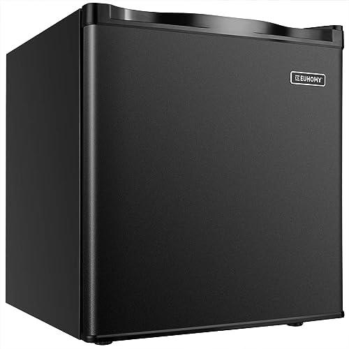 Euhomy Mini Freezer Countertop, 1.1 Cubic Feet,Compact Single Door Upright Freezer with Reversible Adjustable Stainle...