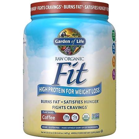 Garden of Life Raw Organic Fit Vegan Protein Powder - Coffee, 28g Plant Based Protein for Weight Loss Plus Fiber, Probiotics & Svetol, Organic Nutritional Shake, 10 Servings