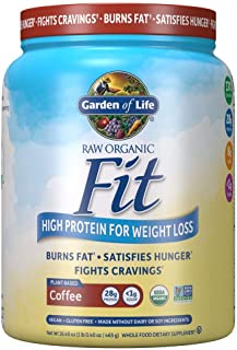 Garden of Life Raw Organic Fit Powder, Organic & Non-GMO Vegan Nutritional Shake, 10 Servings, 16.40 Ounce