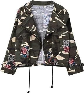 Women Jacket Plus Size Loose Batwing Sleeve Camouflage Tops Coat Outwear