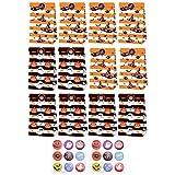 IMIKEYA 1 set di scatole di carta per Halloween con zucca adesiva con spirito adesivo in vinile, cookie trattamenti, scatole, cupcake, caramelle, sacchetti per Halloween, feste