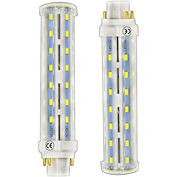 Bonlux 2 Pack 13w Gx24 Rotatable Led Plc Lamp G24q Gx24q 4 Pin Base 26w Cfl Compact Fluorescent Lamp Replacement Warm White 180 Beam Angle Led Pl Horizontal Recessed Bulb Remove Bypass The Ballast Amazon Com