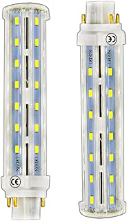 Lustaled 4 Pin GX24Q/GX24 LED Lights, 12W LED G24Q Base PL Retrofit Lamp Daylight 6000K Gx24 Light Bulbs 26W CFL Equivalent for Ceiling Fixtures Wall Sconces Porches (Remove the Ballast, 2-Pack)