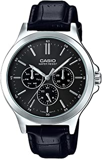 Casio Standart Men's Cream Dial Leather Band Watch - MTP-V300L-7AUDF