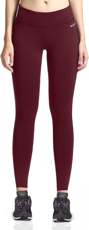 Baleaf Women's Ankle Legging Inner Pocket Non SeeThrough Fabric